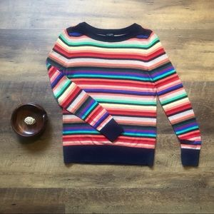 Talbots Wool Blend Colorful Striped Sweater, SP